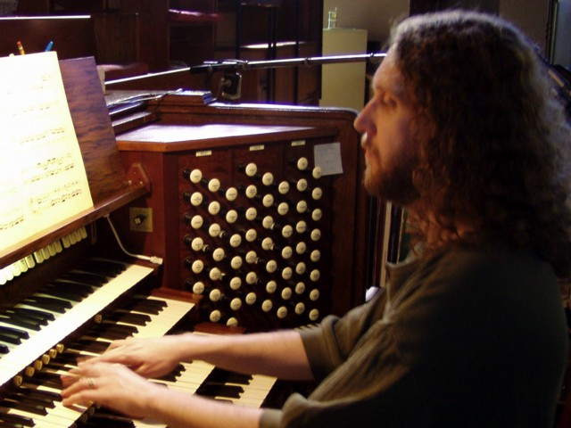 Anthony playing the St. Mary organ