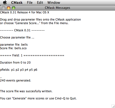 Screenshot of CMask for Mac OS X